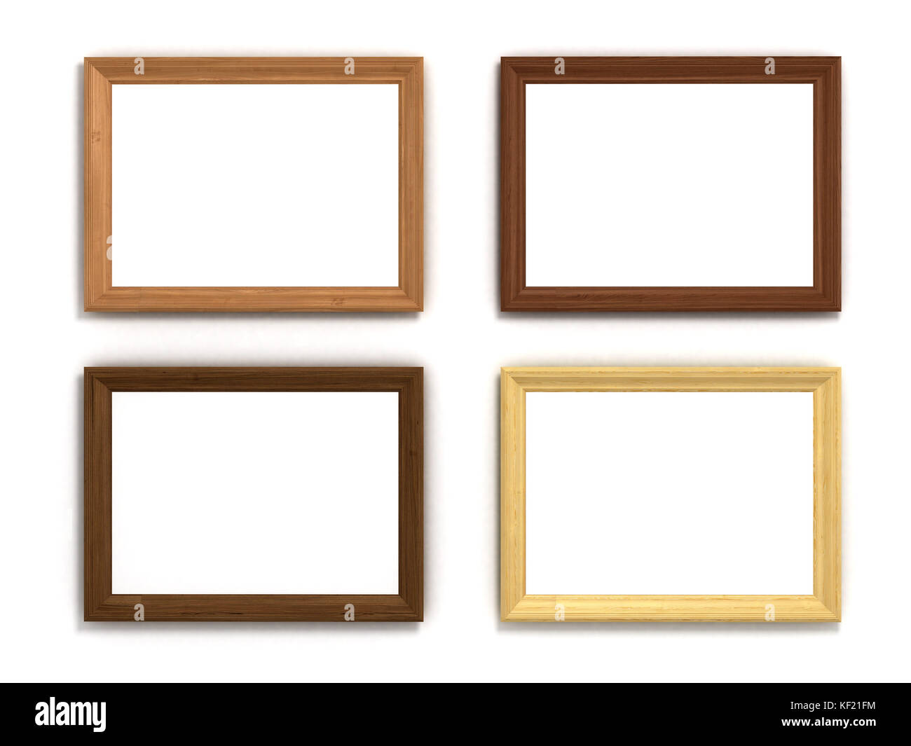 Set of multicolored wooden horizontal frames of different sizes on set of multicolored wooden horizontal frames of different sizes on a white background jeuxipadfo Choice Image