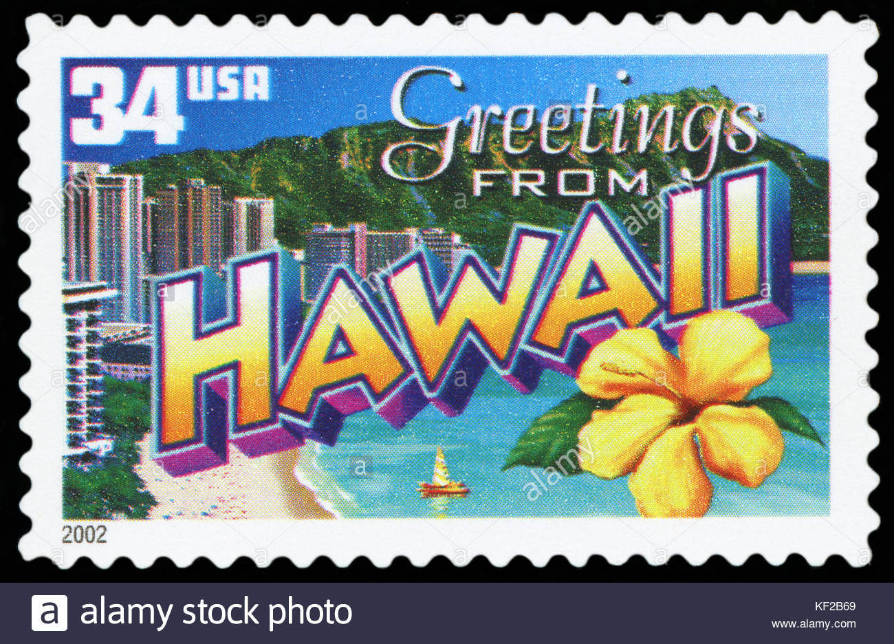Us postage stamp greetings from hawaii stock photo 164165857 us postage stamp greetings from hawaii kristyandbryce Choice Image