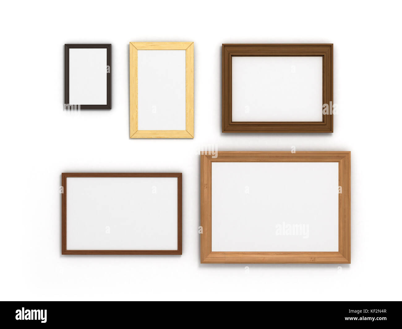 set of colorful frames of different sizes on a white background ...