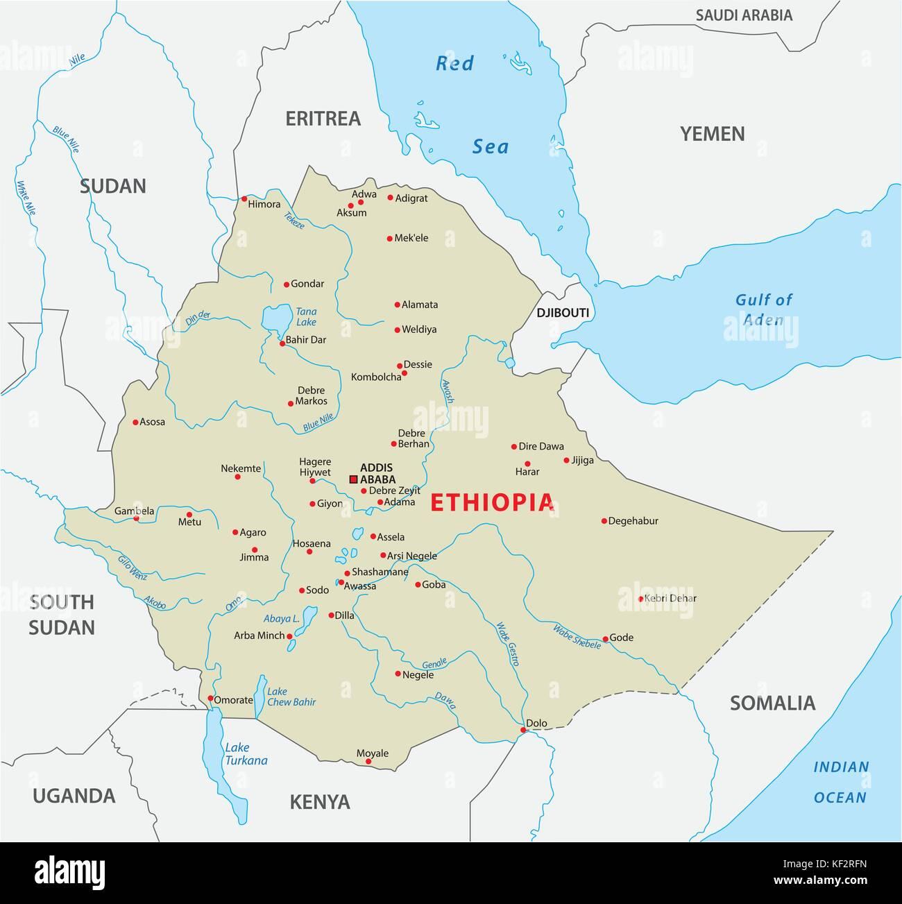 World map ethiopia stock photos world map ethiopia stock images ethiopia vector map stock image gumiabroncs Choice Image