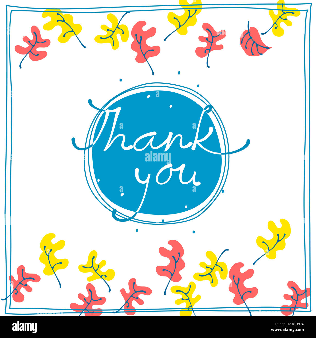 Thank You Card Design Template Simple Greeting Card Elegant With