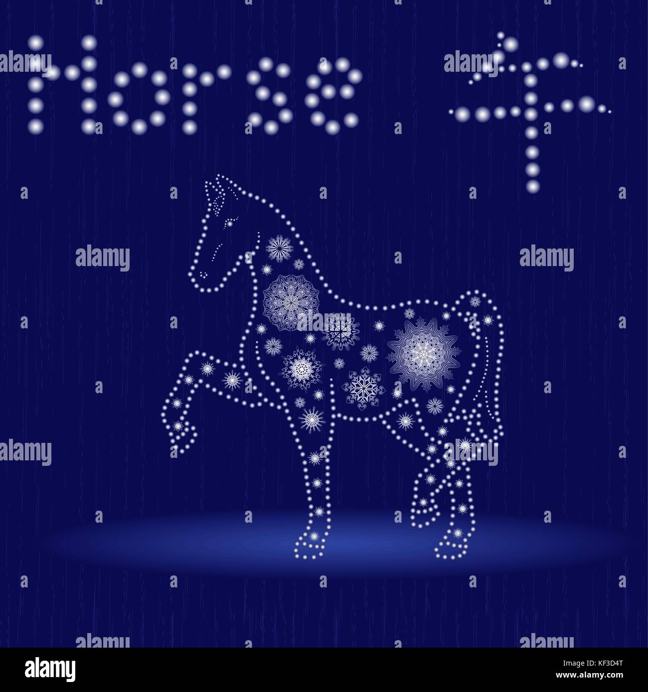 Chinese zodiac sign horse fixed element fire symbol of new year chinese zodiac sign horse fixed element fire symbol of new year on the eastern calendar hand drawn vector illustration with snowflakes and light sp buycottarizona Images