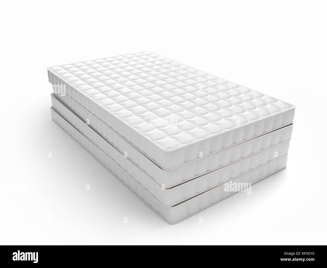 stack of mattresses. Stack Of Mattresses Isolated On White Background