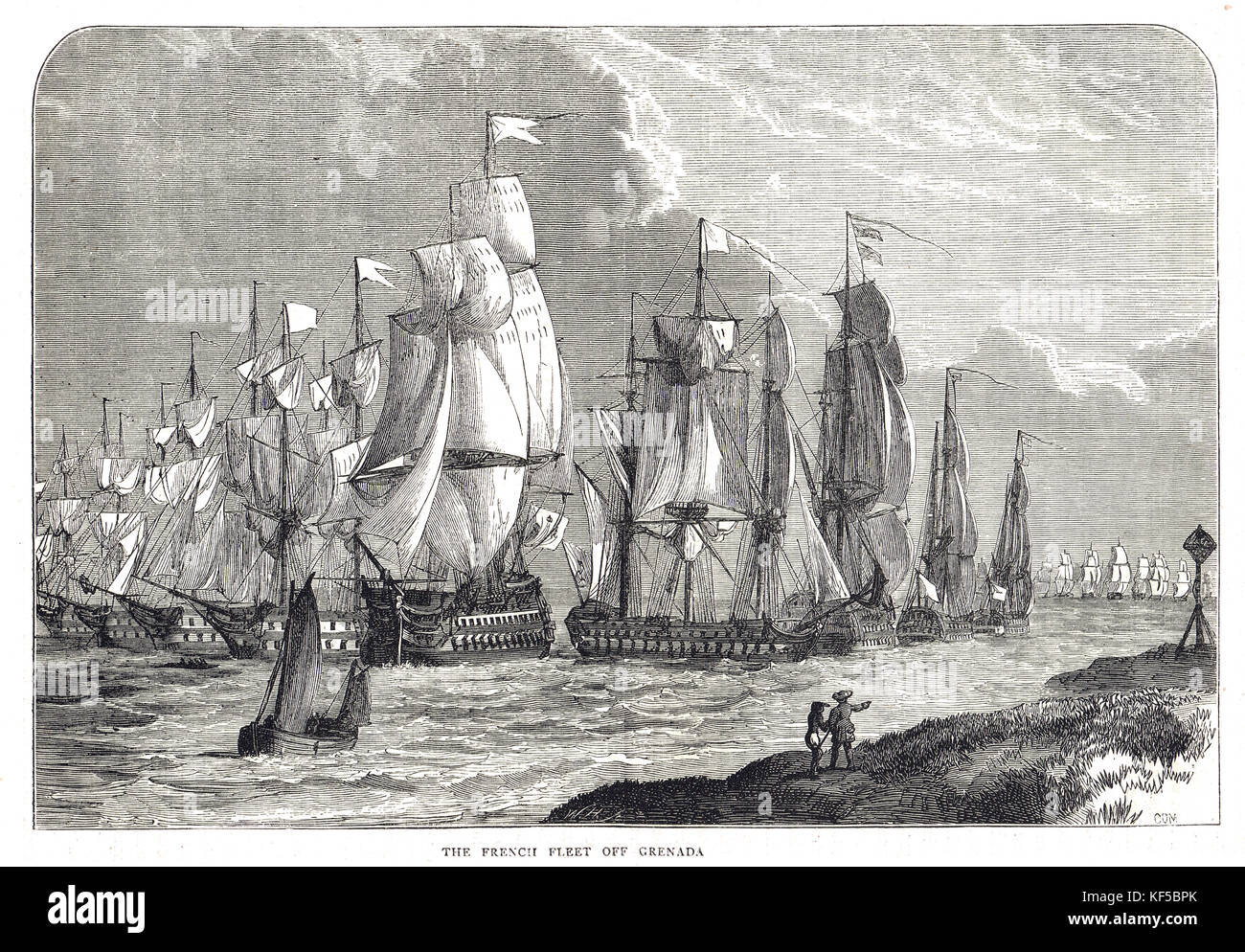 French Fleet off Grenada, Capture of Grenada in July 1779