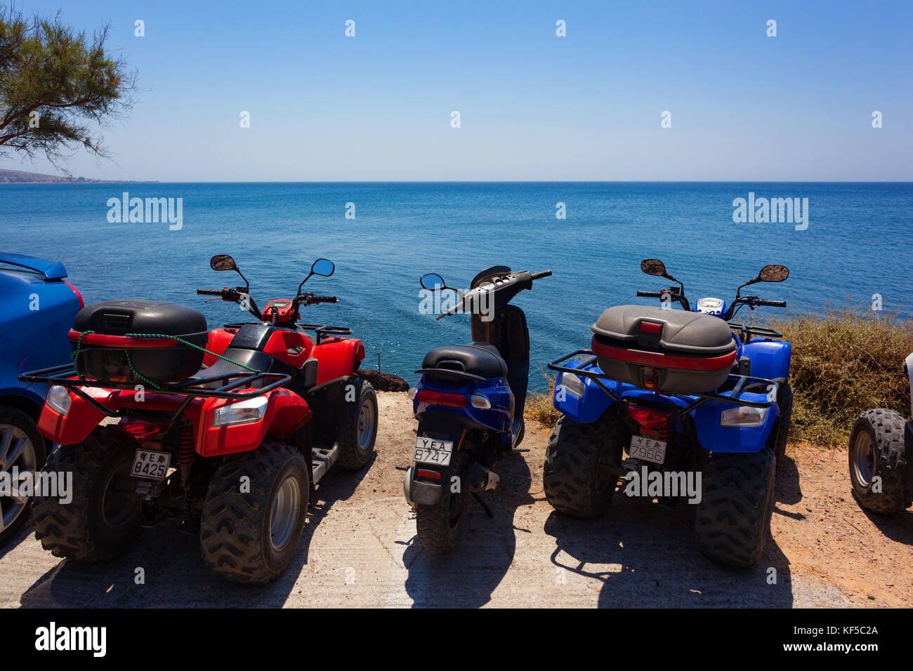 Rent Car In Greece Red Beach