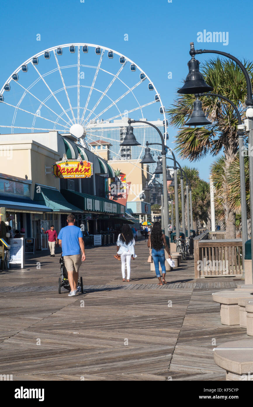 The Boardwalk At Myrtle Beach South Carolina USA