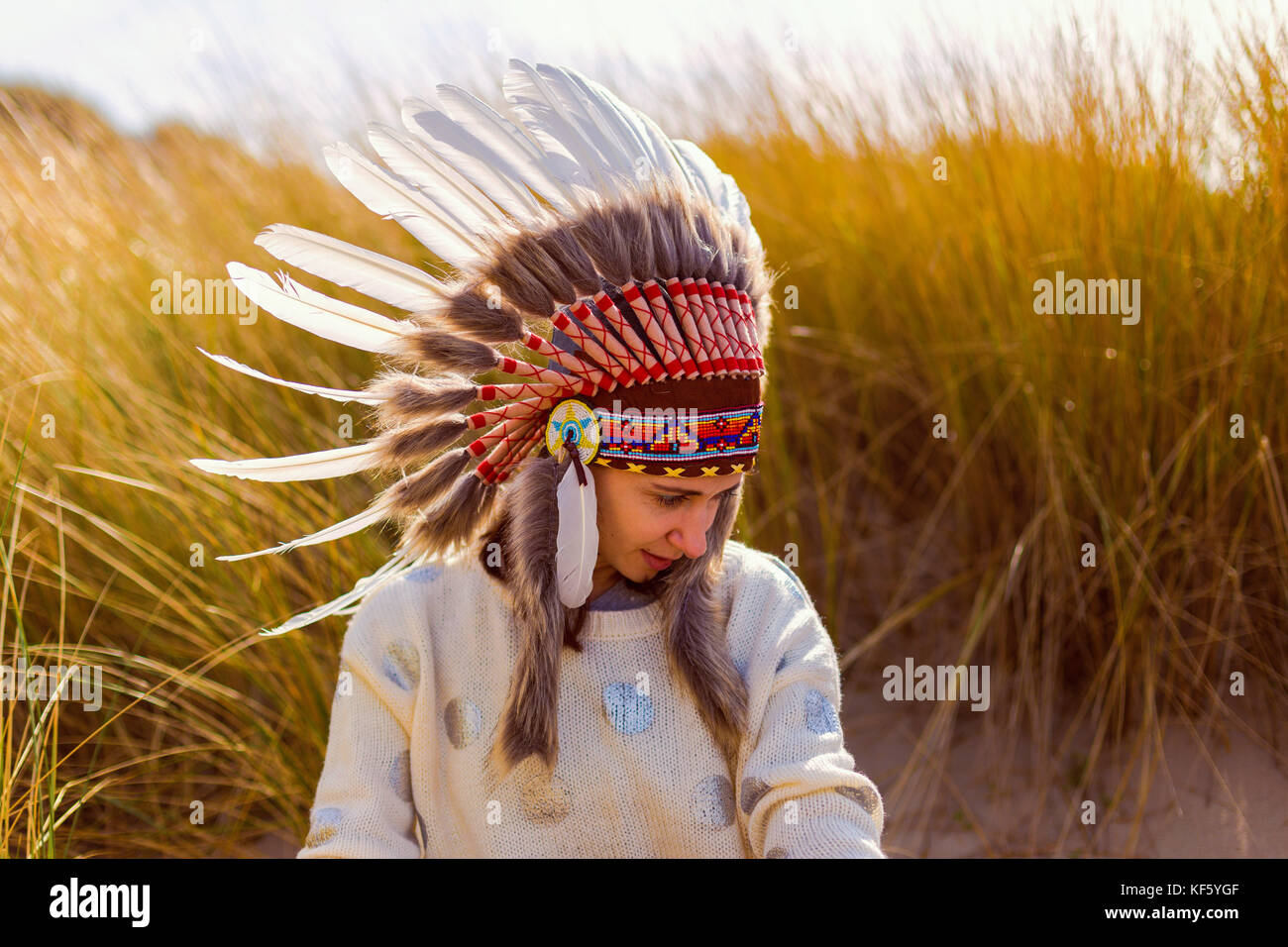 Beautiful native american women headdress you wish