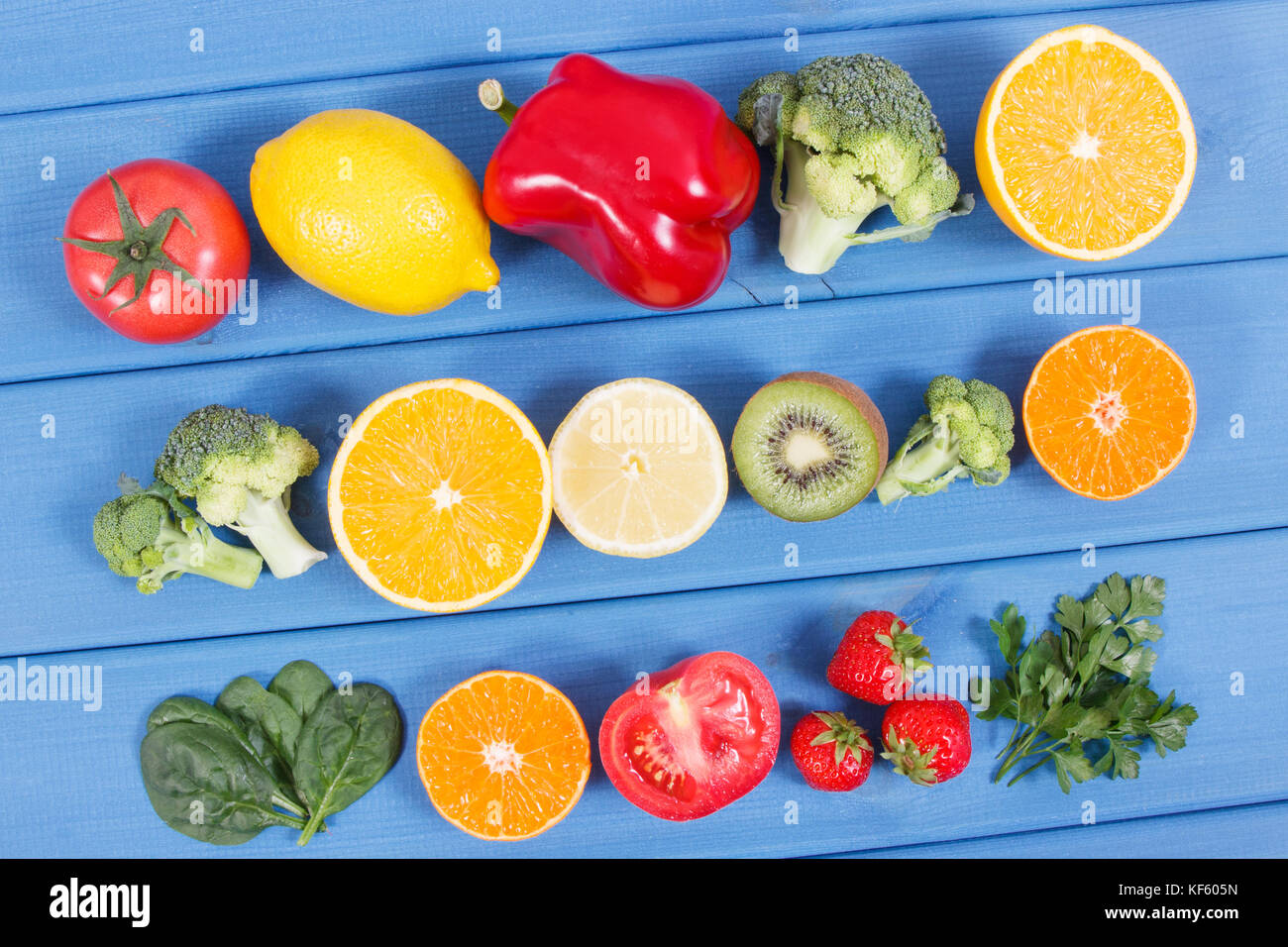 Healthy ripe fruits and vegetables containing vitamin c natural healthy ripe fruits and vegetables containing vitamin c natural minerals and dietary fiber healthy nutrition concept workwithnaturefo