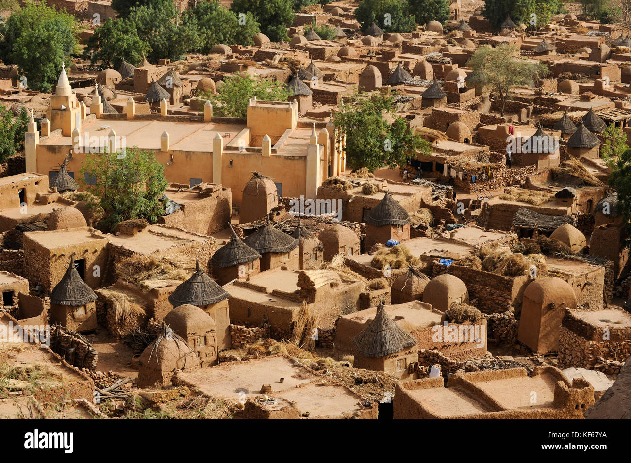 Mali songo dogon village stock photos mali songo dogon village mali dogon land dogon village songho with clay architecture at the falaise which is unesco biocorpaavc
