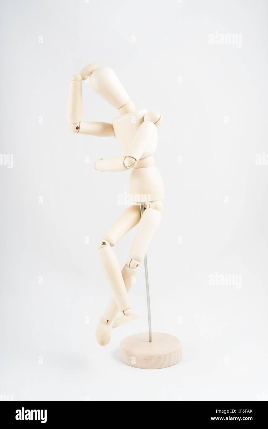 a wooden mannequin in sitting position stock photo 164256923 alamy