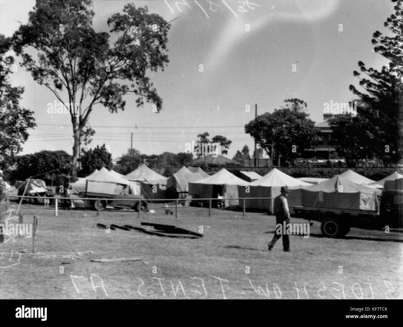 1 104660 Sideshow tents at the Exhibition Brisbane August 1938 & 1 104660 Sideshow tents at the Exhibition Brisbane August 1938 ...
