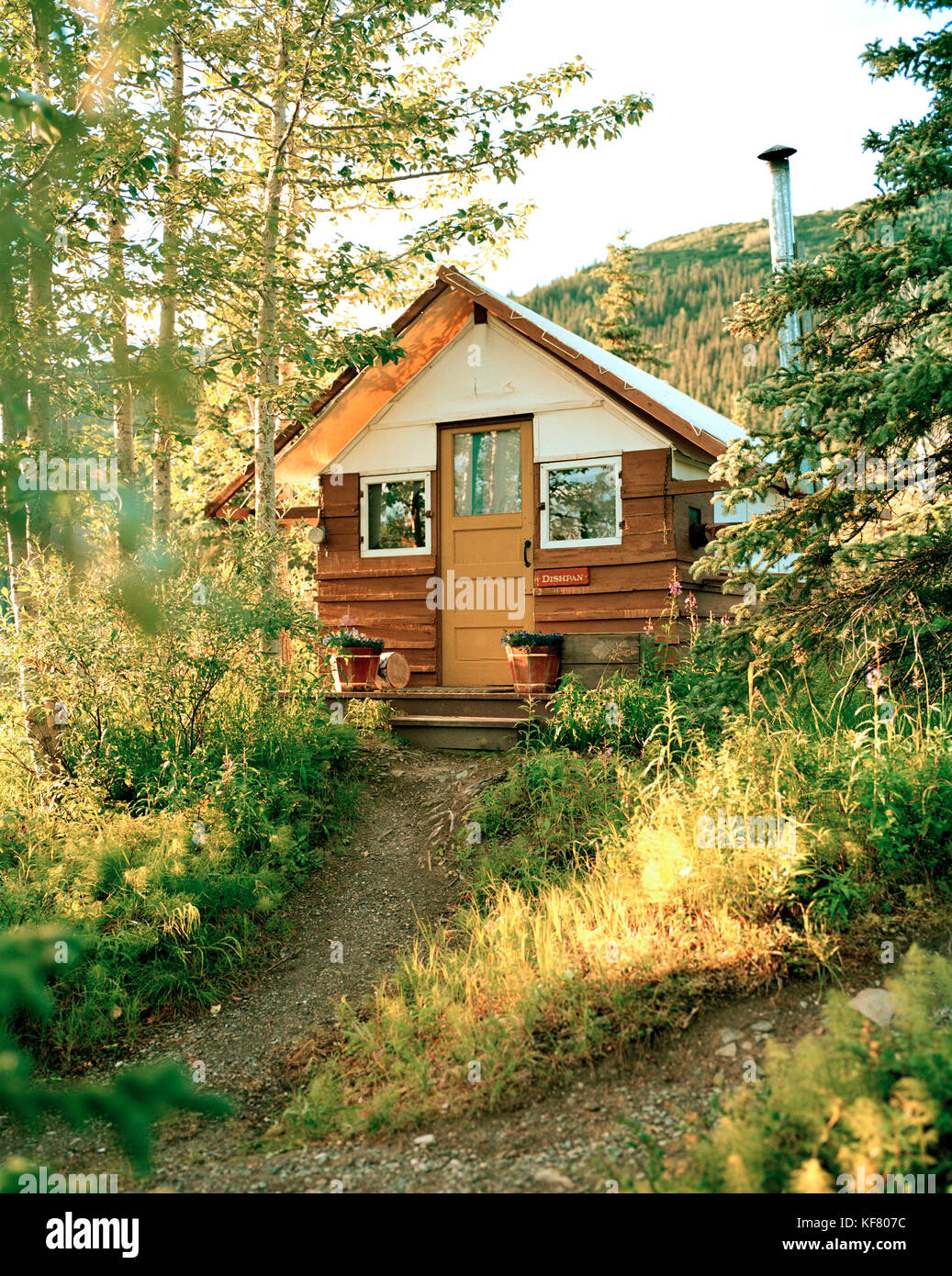USA, Alaska, Camp Denali Cabin In Denali National Park