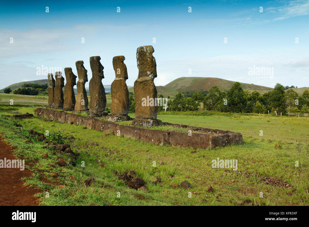 easter island statuettes stock photos easter island. Black Bedroom Furniture Sets. Home Design Ideas