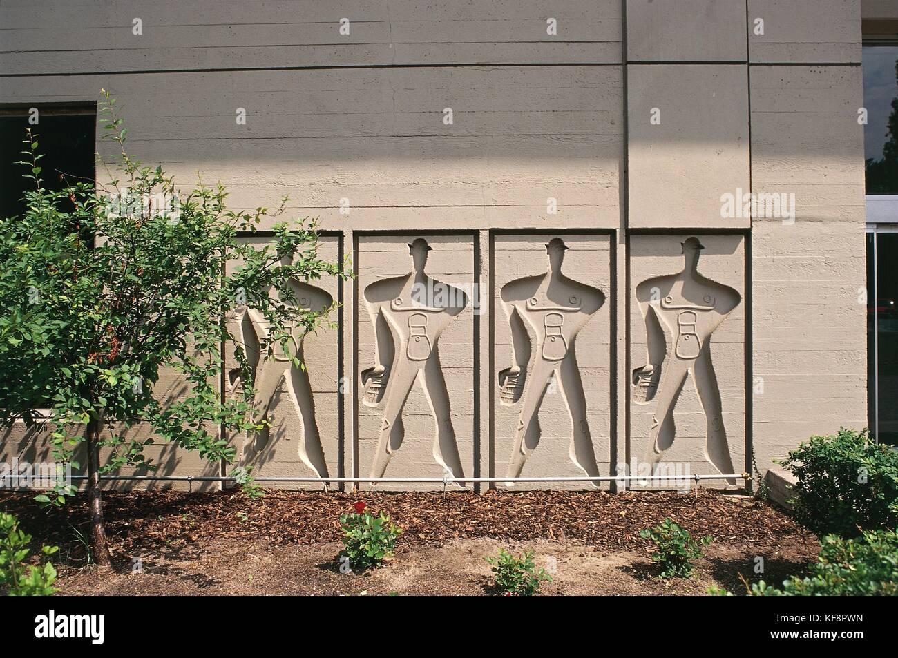germany, berlin. modulor unit d'habitation (architect le corbusier