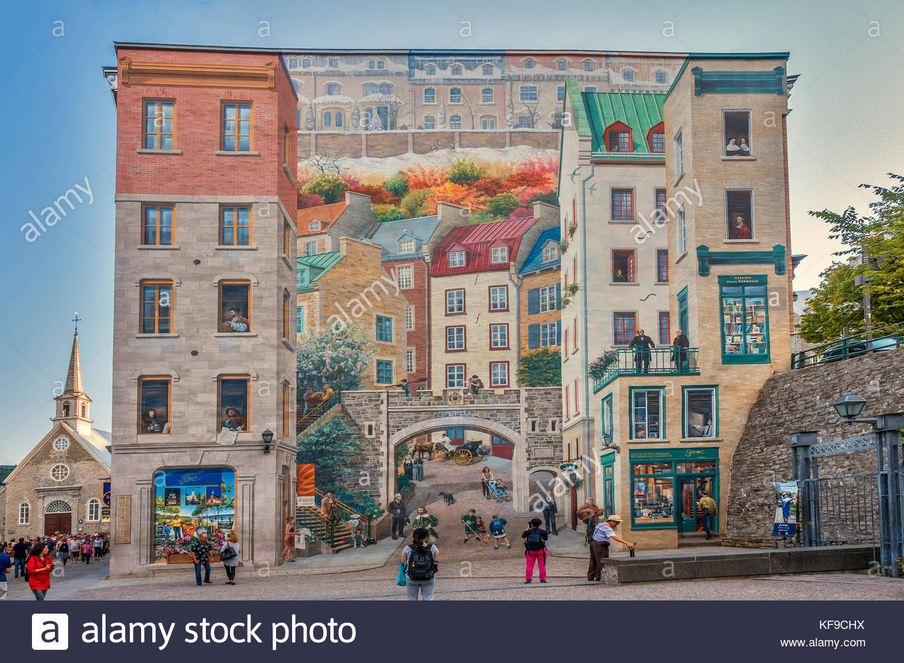 Wall Mural, Notre Dame Street, Quebec City, Canada   Stock Image Part 70