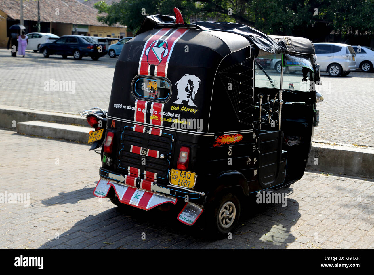 Galle fort galle southern province sri lanka tuk tuk with picture of bob marley and adidas