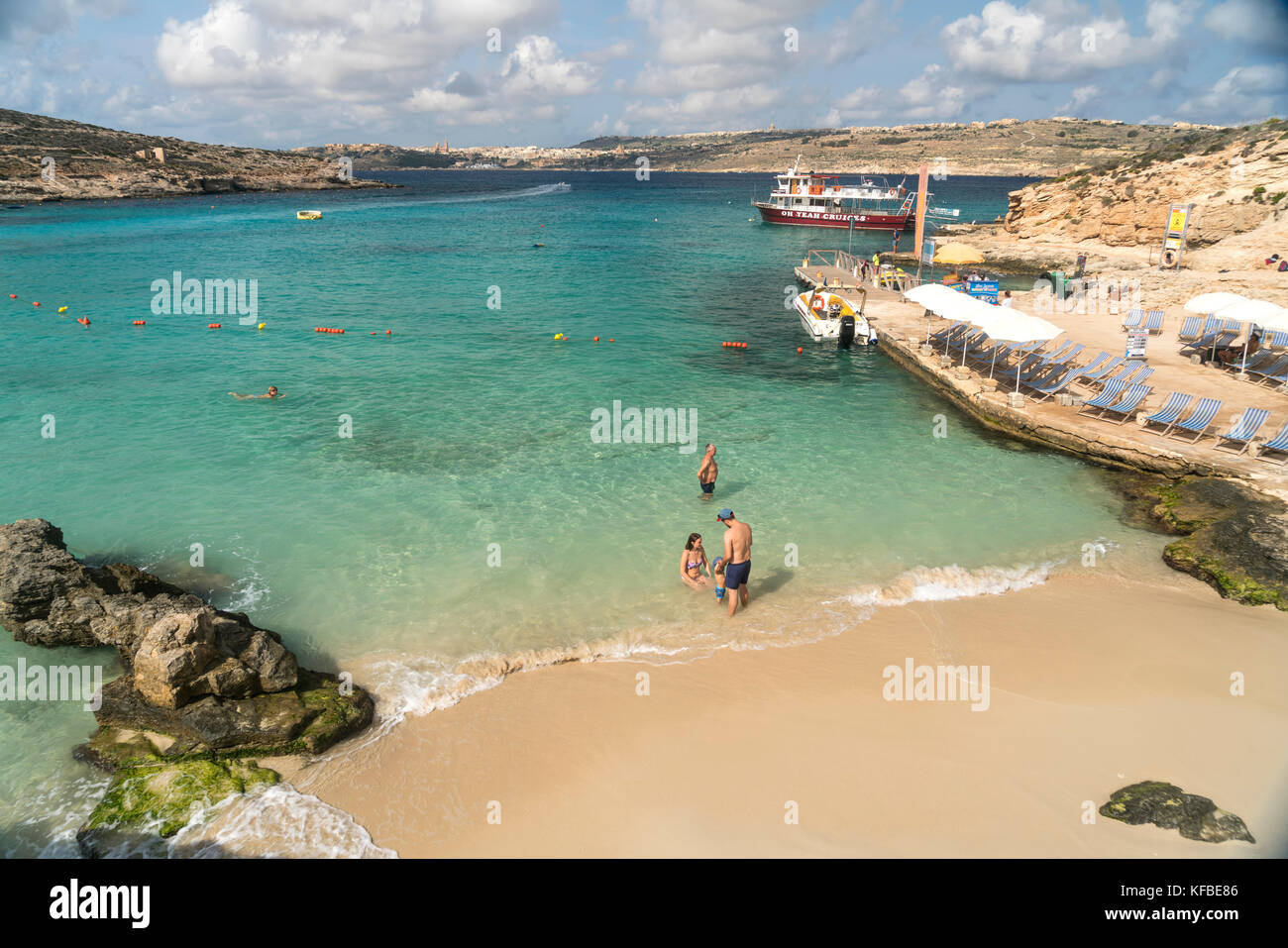 die blaue lagune insel comino malta the blue lagoon comino stock photo royalty free image. Black Bedroom Furniture Sets. Home Design Ideas
