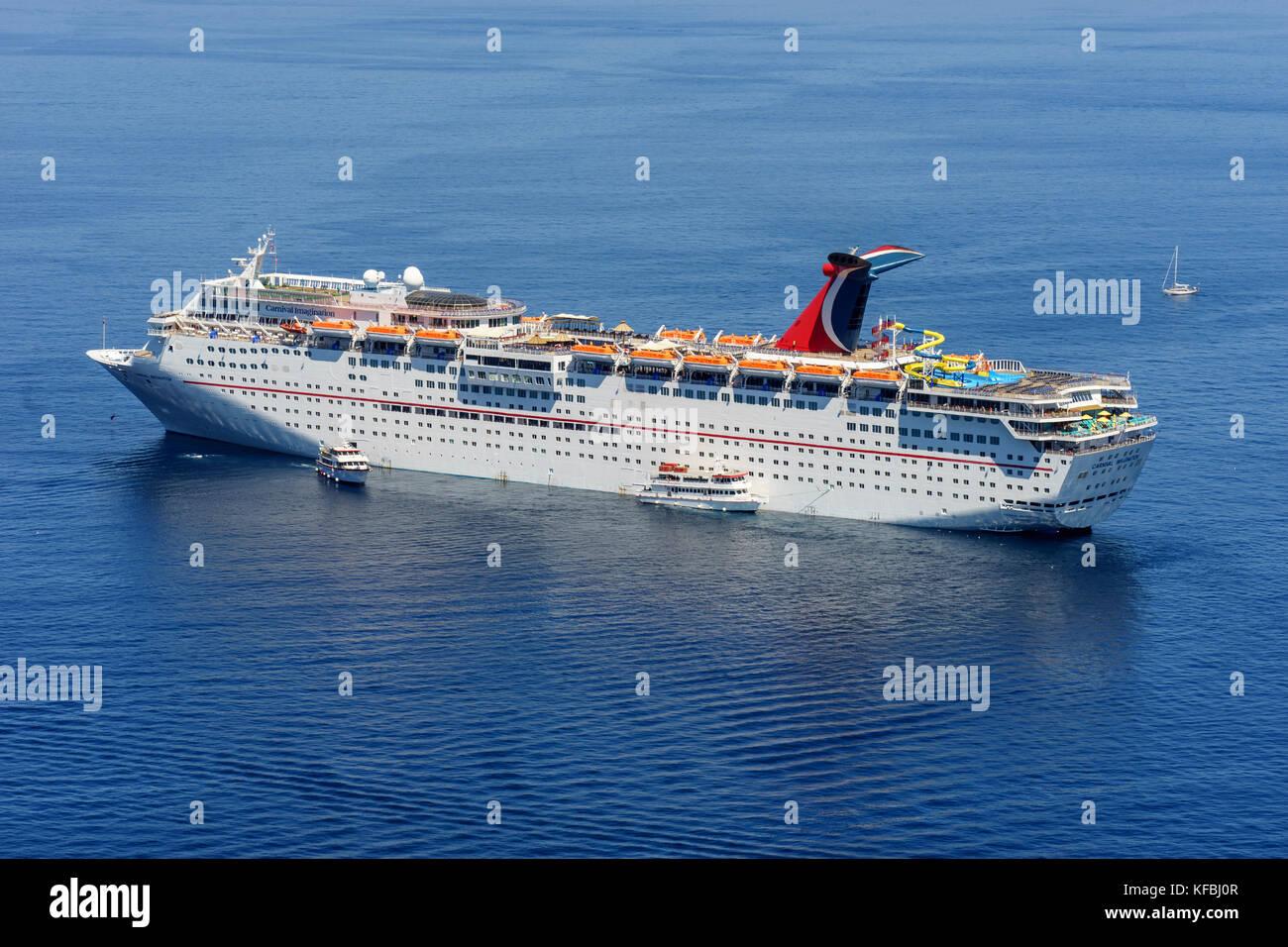 carnival imagination cruise ship anchored off avalon catalina