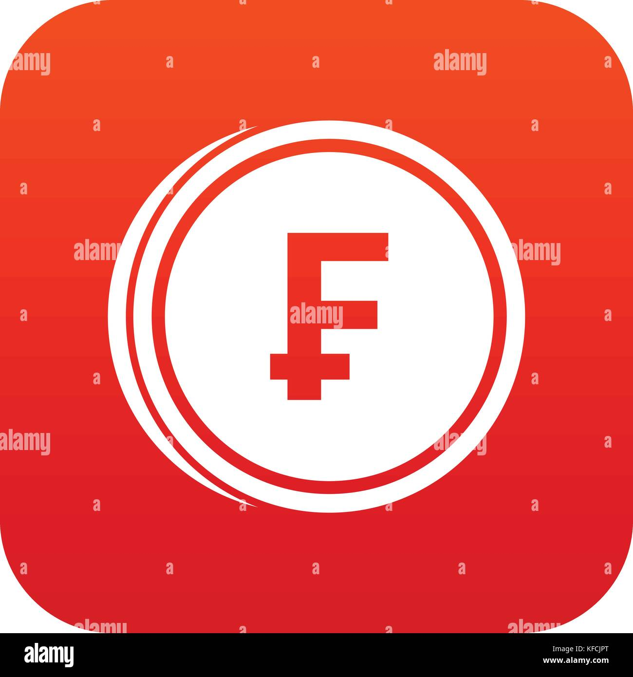 Franc currency symbol stock photos franc currency symbol stock franc coins icon digital red stock image buycottarizona Choice Image