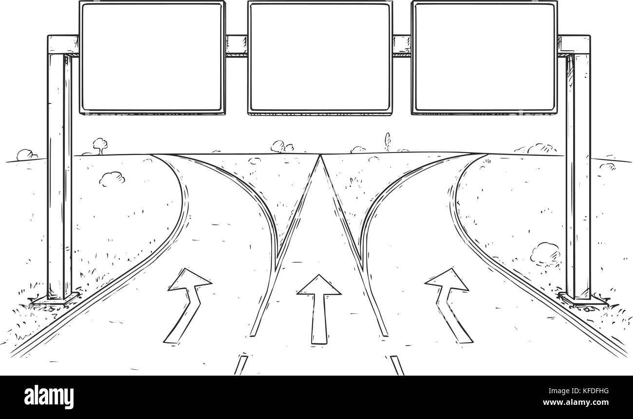 how to draw a highway road from the top
