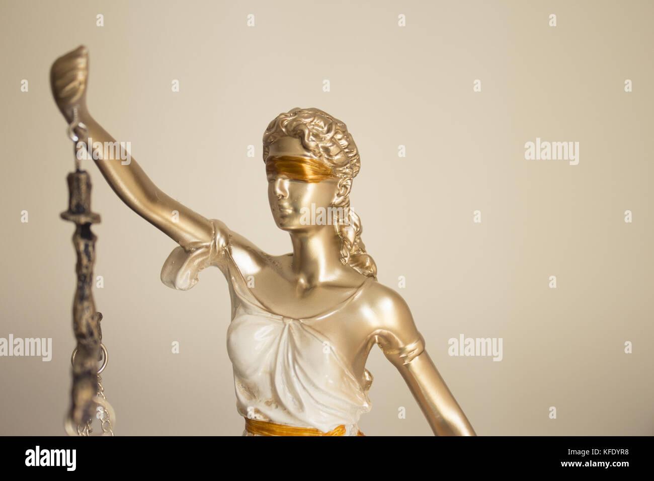 White Female Statue Symbol Of Justice Themis This Figure Has Not