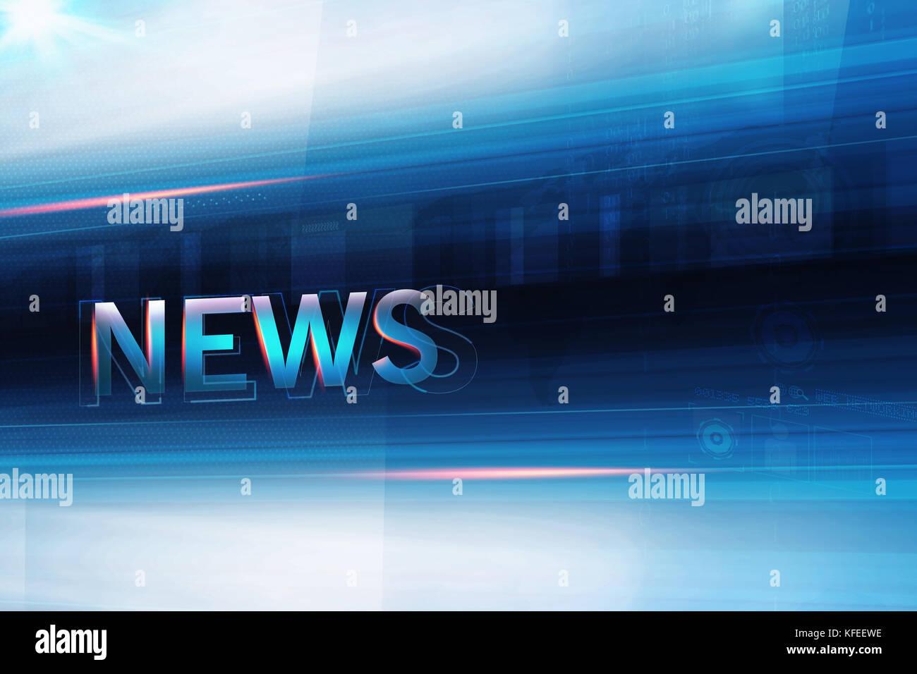high tech news studio background futuristic blue theme technology