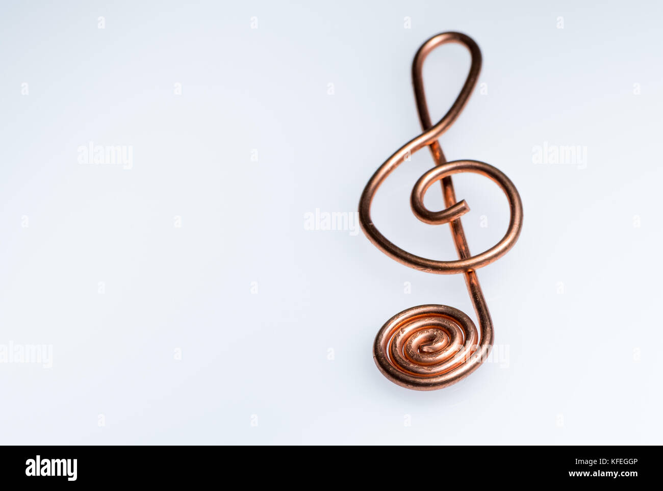 Closeup of a treble clef made of bent copper wire stock photo closeup of a treble clef made of bent copper wire buycottarizona Image collections
