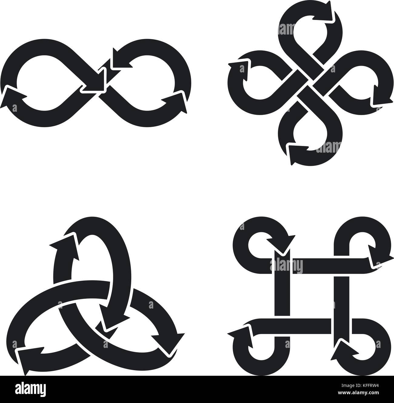 Infinity Symbol Icons Vector Illustration Stock Vector Art