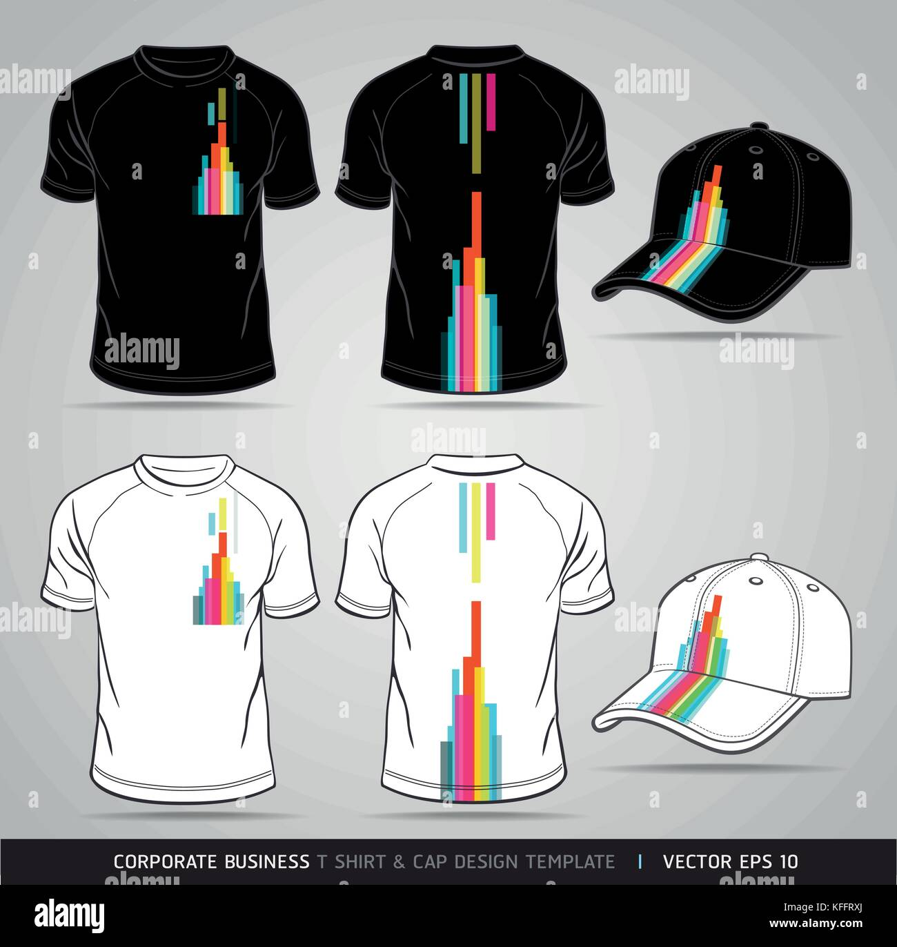 Corporate Identity Business Set T Shirt And Cap Design Template