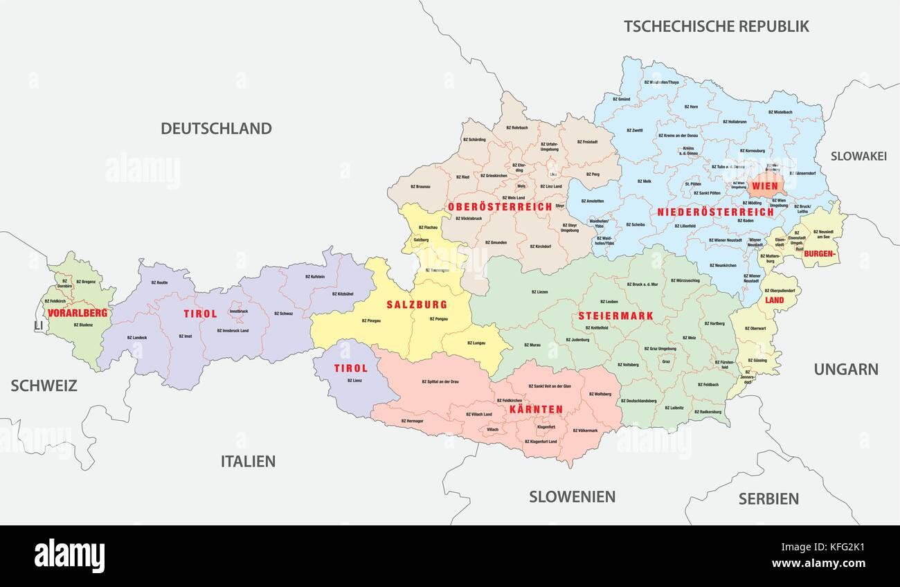 Austria Hungary Map Stock Photos Austria Hungary Map Stock - Austria political map