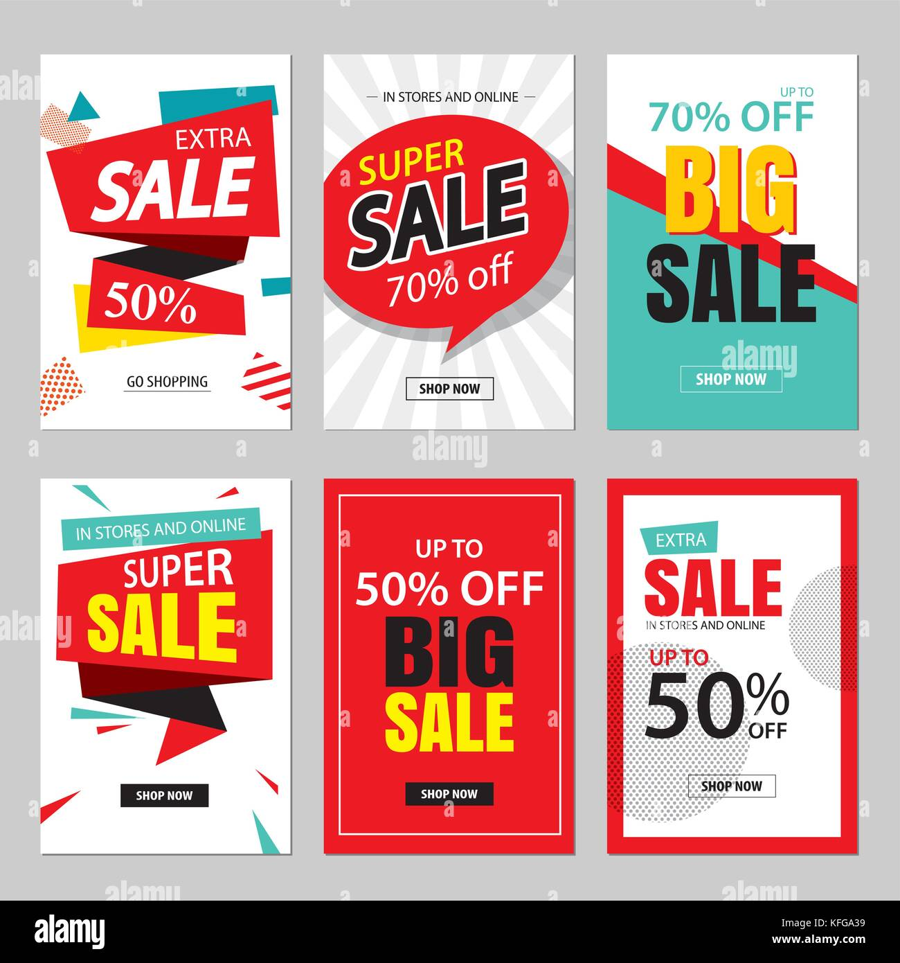 Set Of Sale Website Banner Templatescial Media Banners For Online