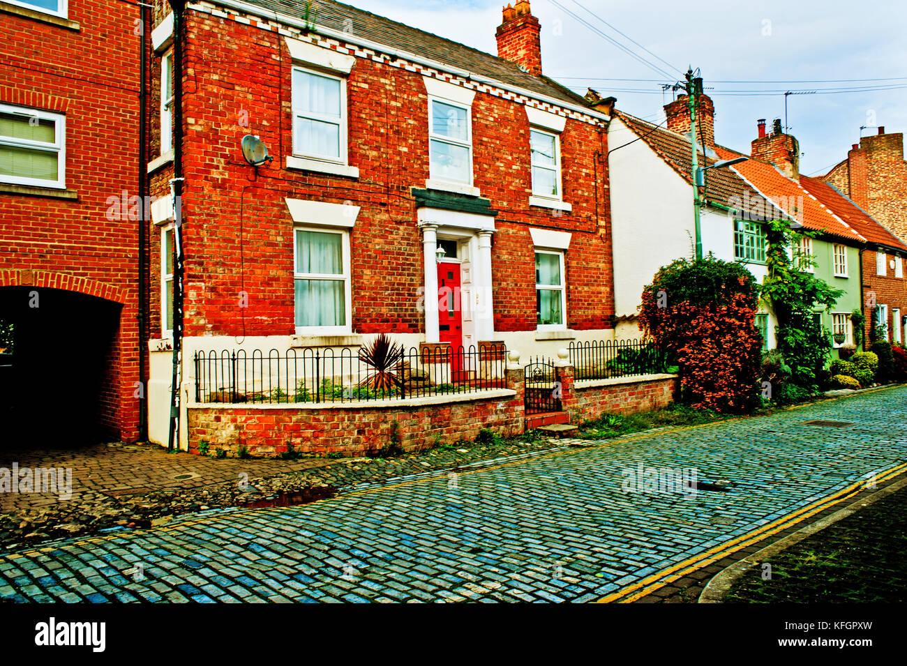 House design yarm - High Church Wynd Yarm On Tees Stock Image