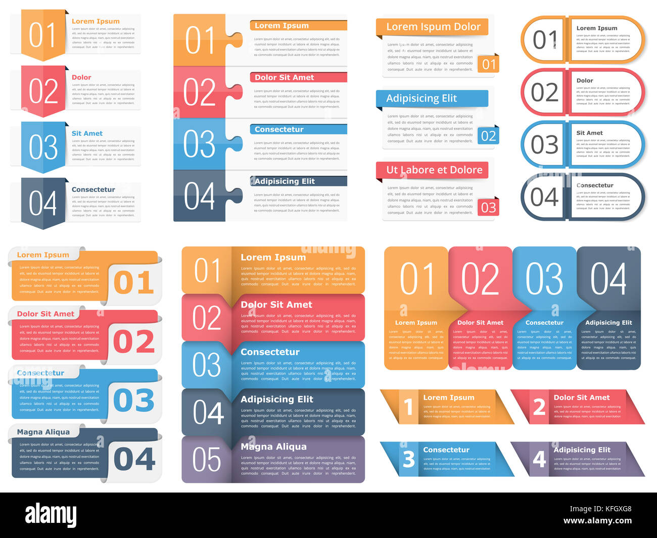Set of infographic templates with numbers and text business stock set of infographic templates with numbers and text business infographics elements set workflow process steps or options vector eps10 illustration friedricerecipe Images