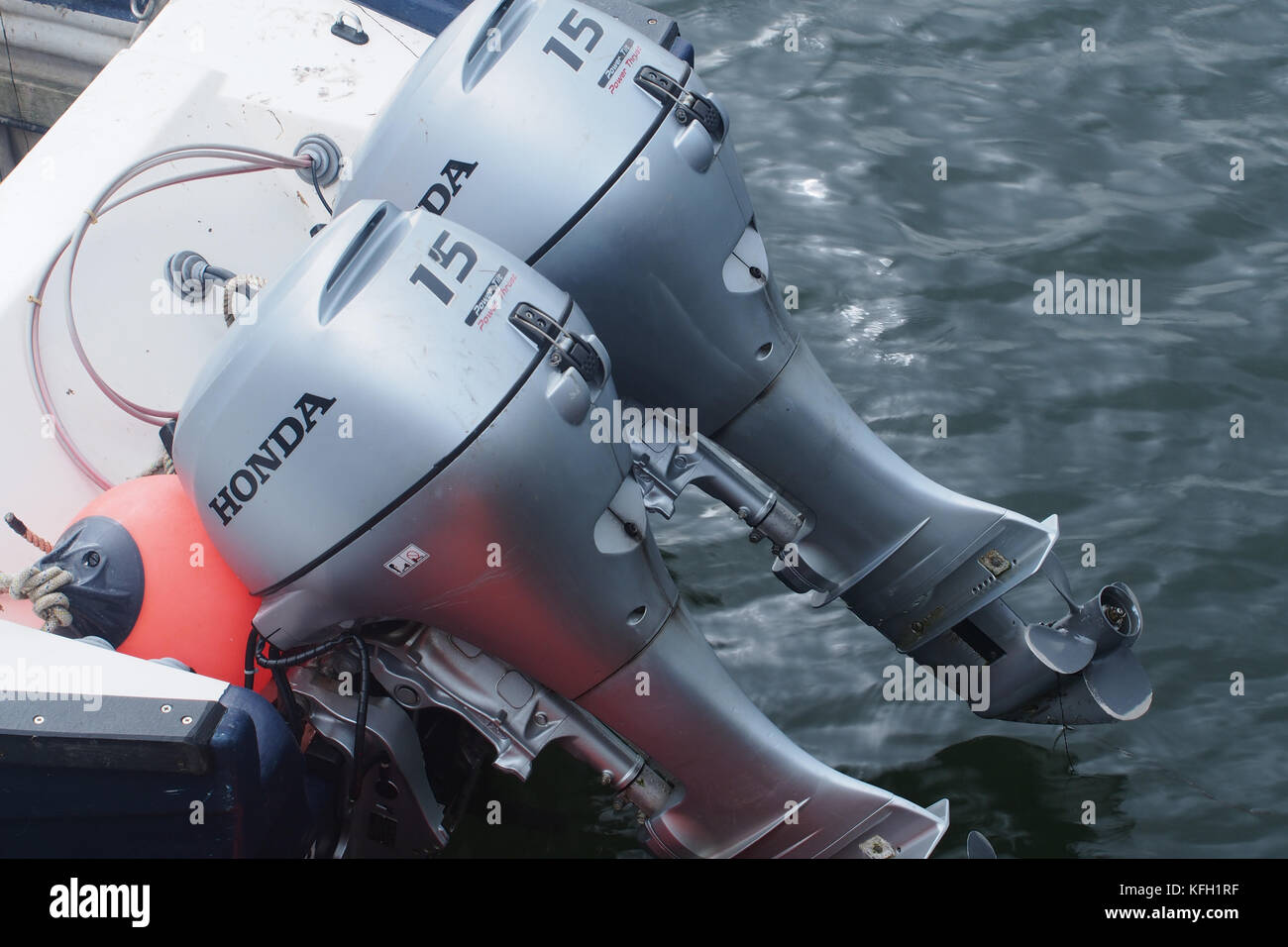 Outboard motors stock photos outboard motors stock for New honda boat motors