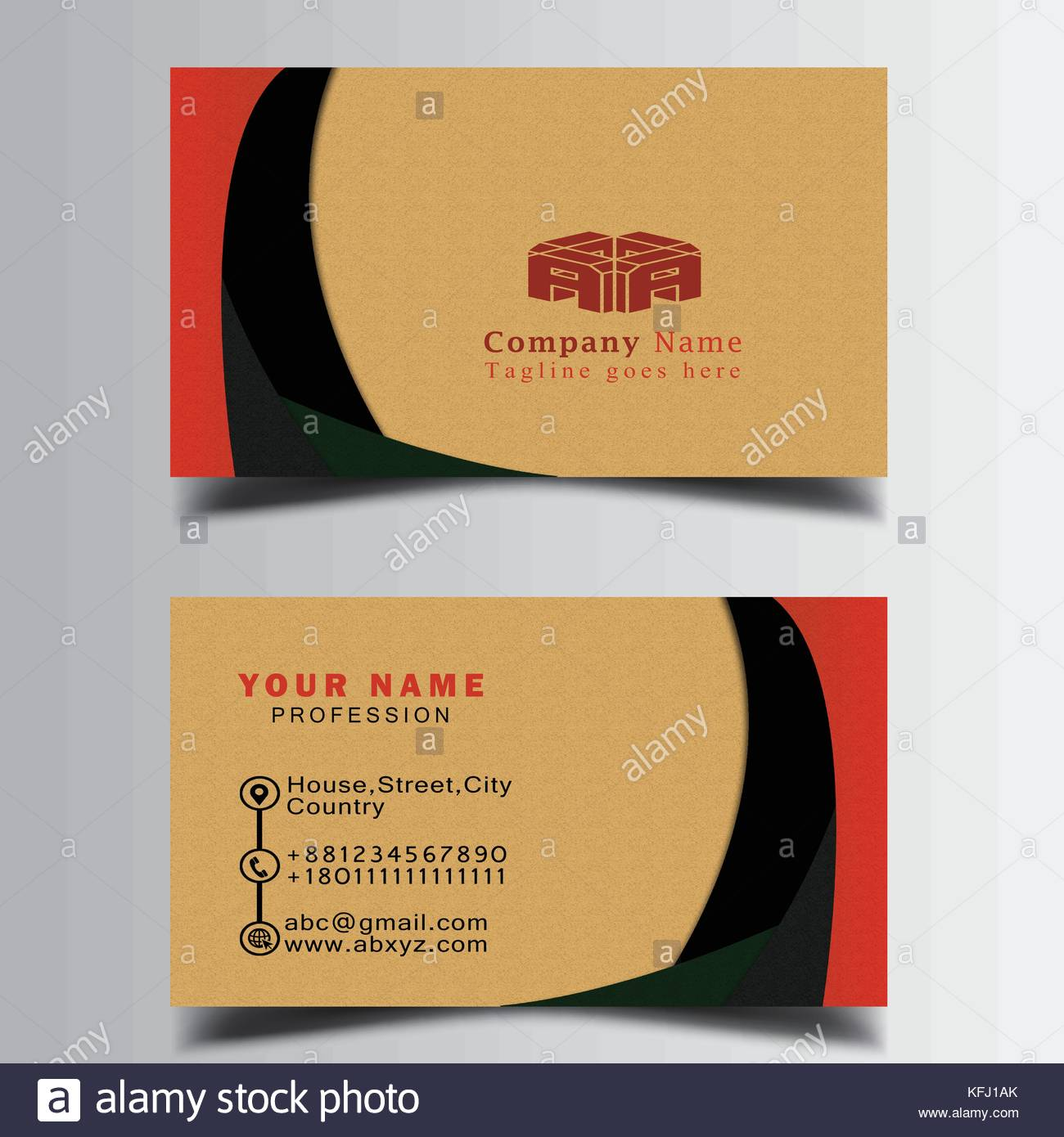 Business card and phone blank mockup stock photos business card smart business card printable and editable stock image magicingreecefo Gallery