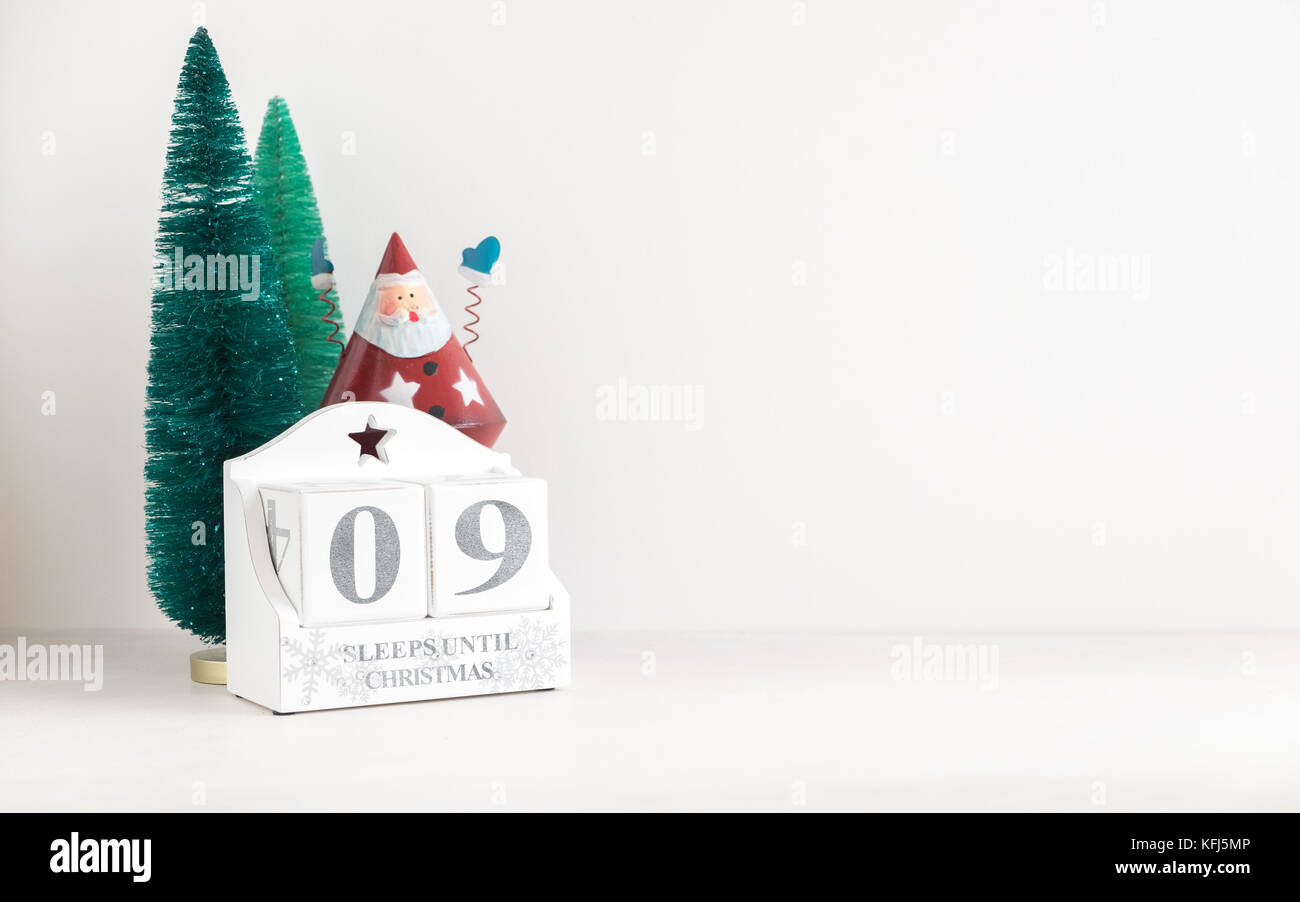December Save the Date calendar for Christmas. Displays number of ...