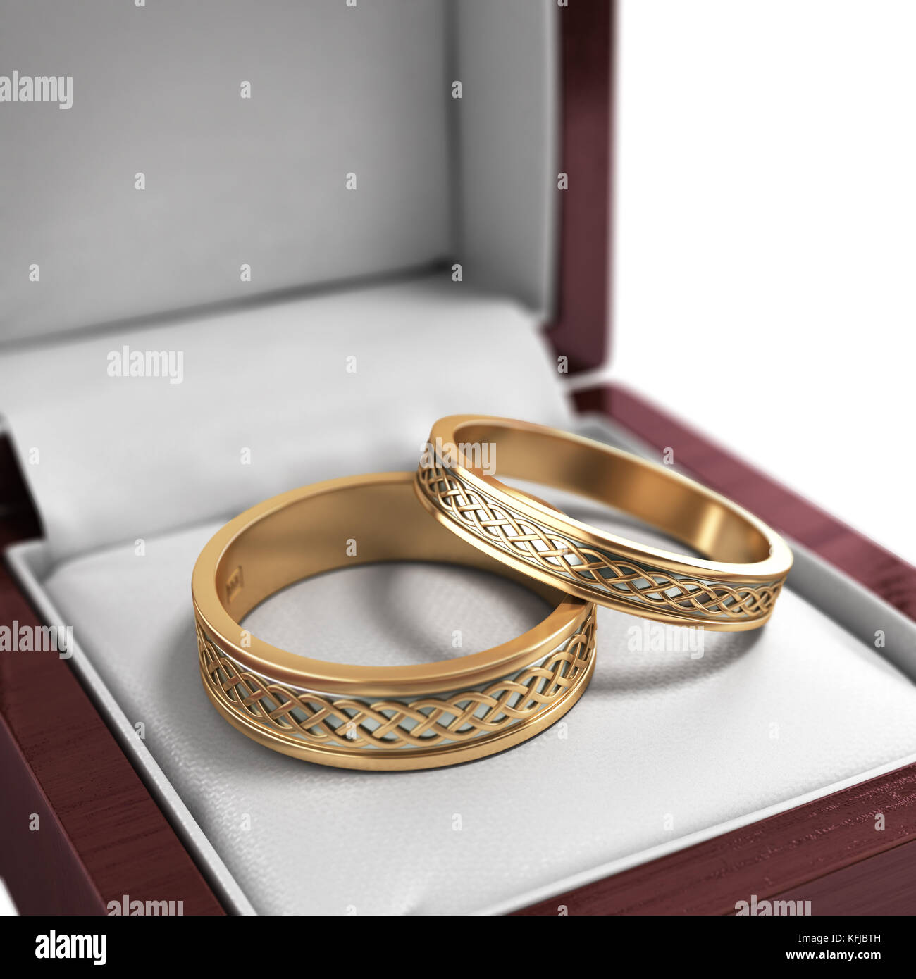 Wedding Bands Wedding Rings In The Red Box Wedding Jewelry
