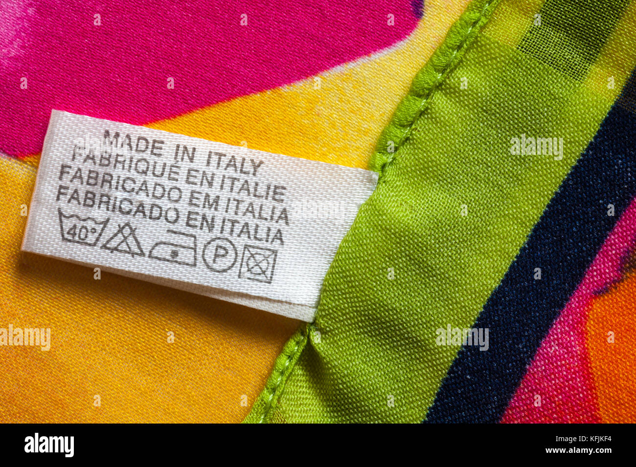 Label in womans scarf made in italy with care wash symbols sold label in womans scarf made in italy with care wash symbols sold in the uk united kingdom great britain biocorpaavc Choice Image