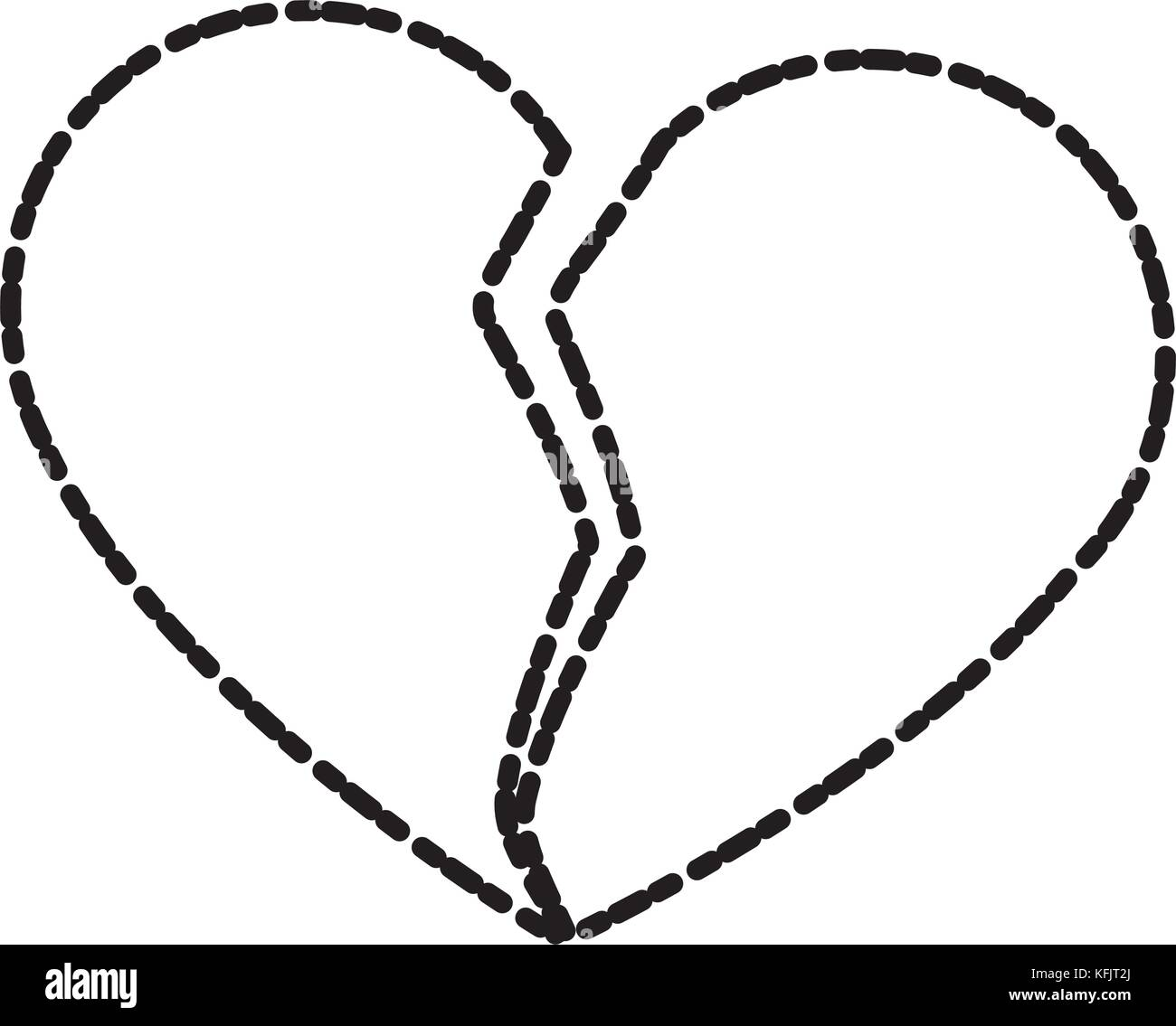 Broken heart symbol black and white stock photos images alamy broken heart symbol stock image buycottarizona Image collections