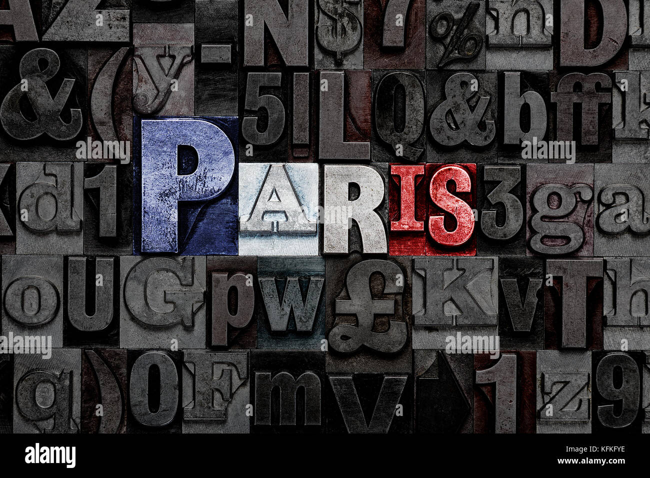 Old Metal Letters Inspiration The Word Paris Made From Old Metal Letterpress Letters With The Decorating Inspiration