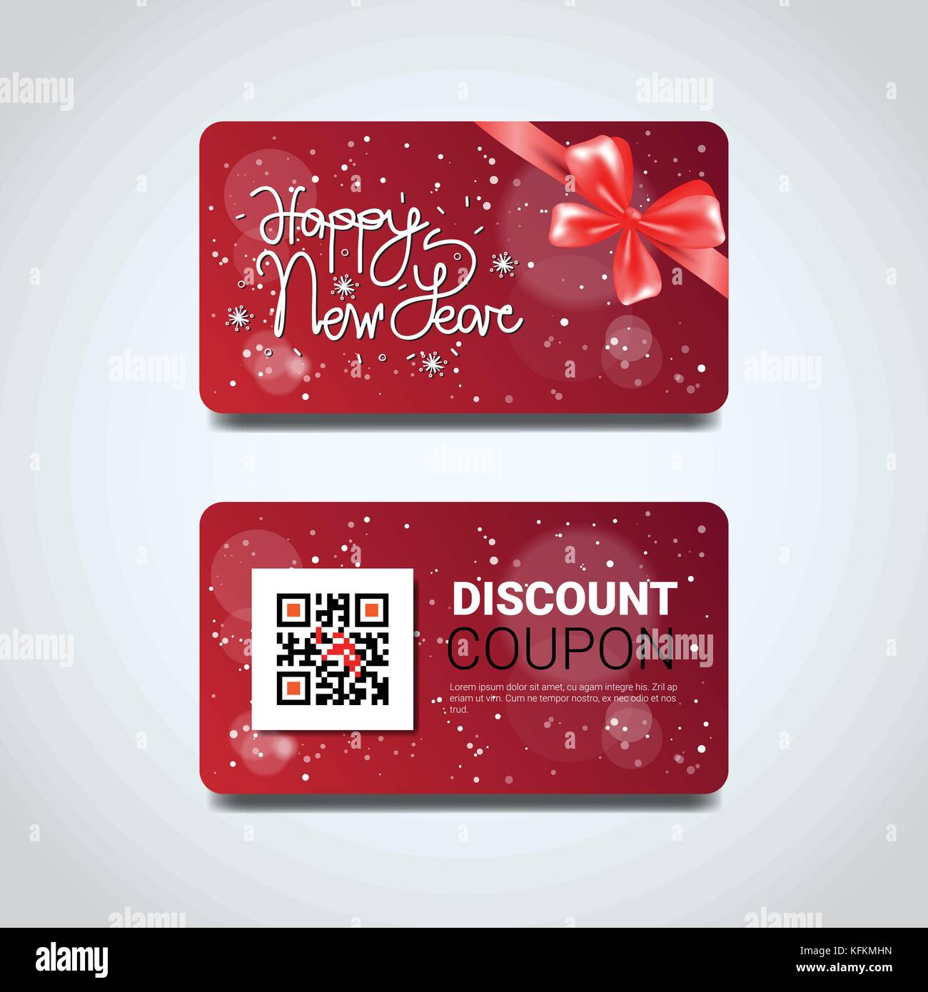Discount Coupon Design Voucher With Qr Code For Present On Merry