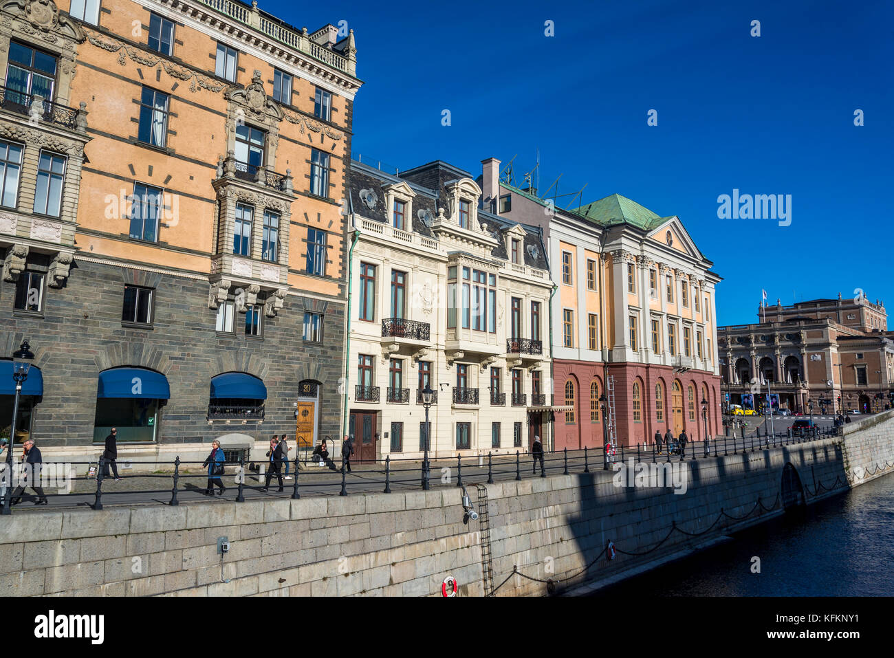 Beautiful Houses Line Stromgatan Street In The District Of Norrmalm - Sleek-and-beautiful-apartment-in-sweden