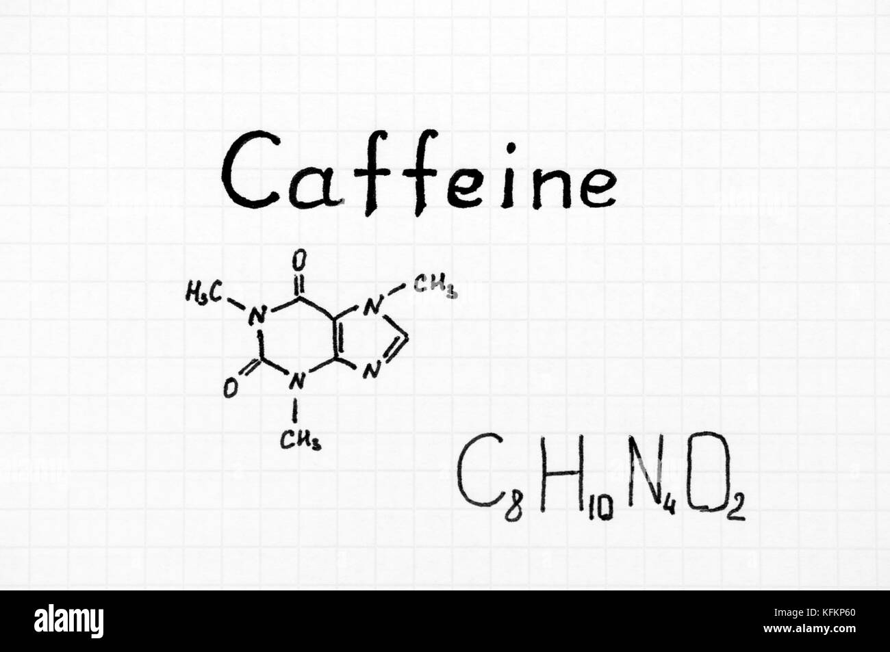 Chemical formula of caffeine close up stock photo royalty free chemical formula of caffeine close up pooptronica