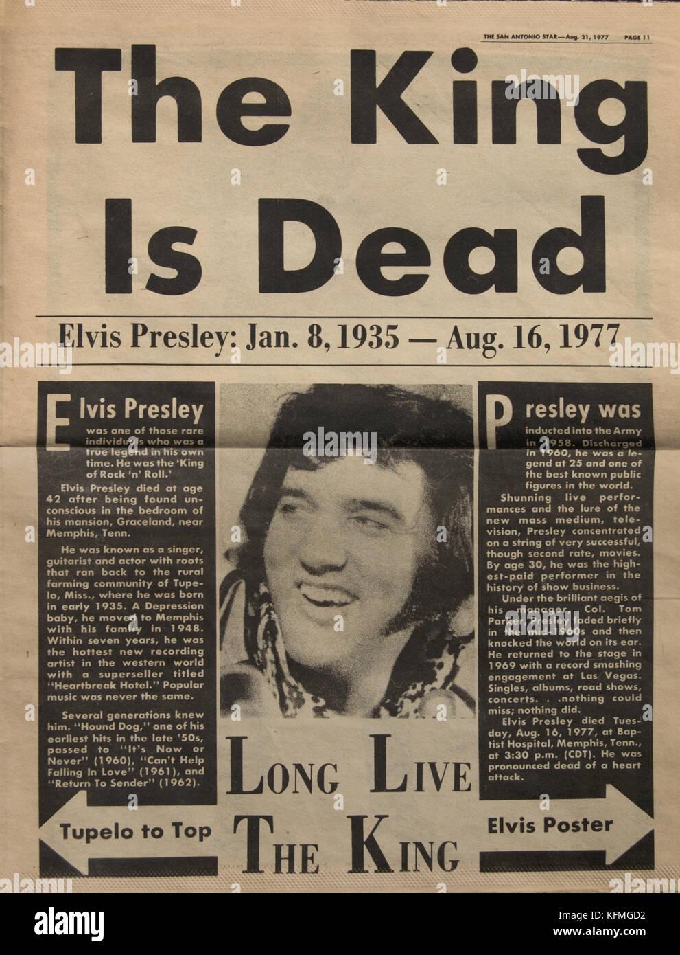 Elvis Presley Death Stock Photos Amp Elvis Presley Death