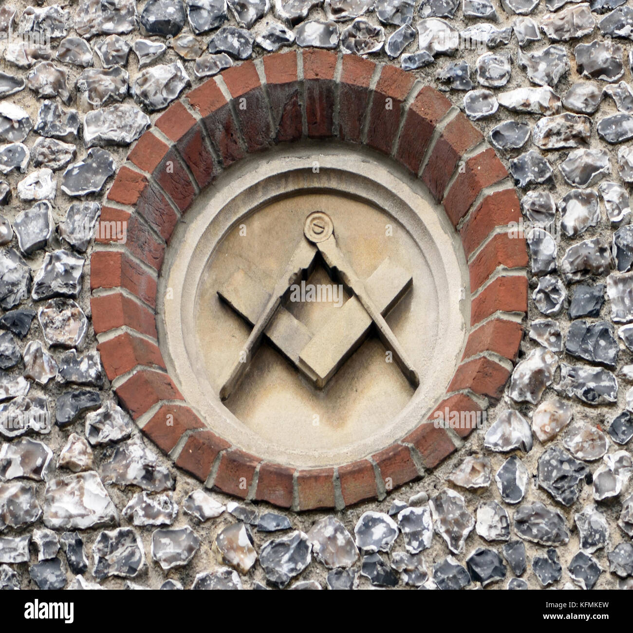 Masonic symbols stock photos masonic symbols stock images alamy compasses and a square masonic symbols carved on stone plagues in a flint wall on biocorpaavc