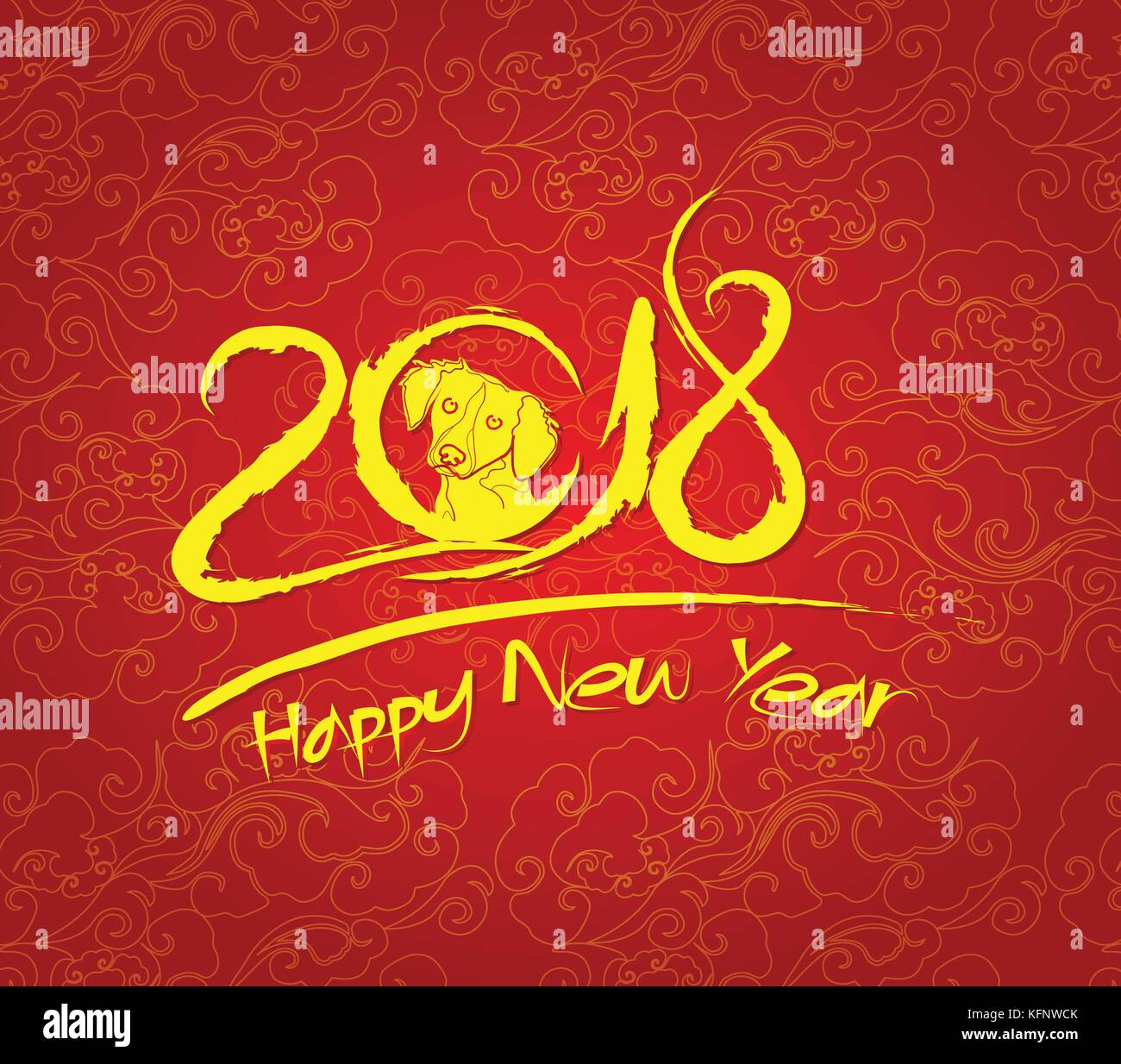 cloud abstract chinese new year 2018 background