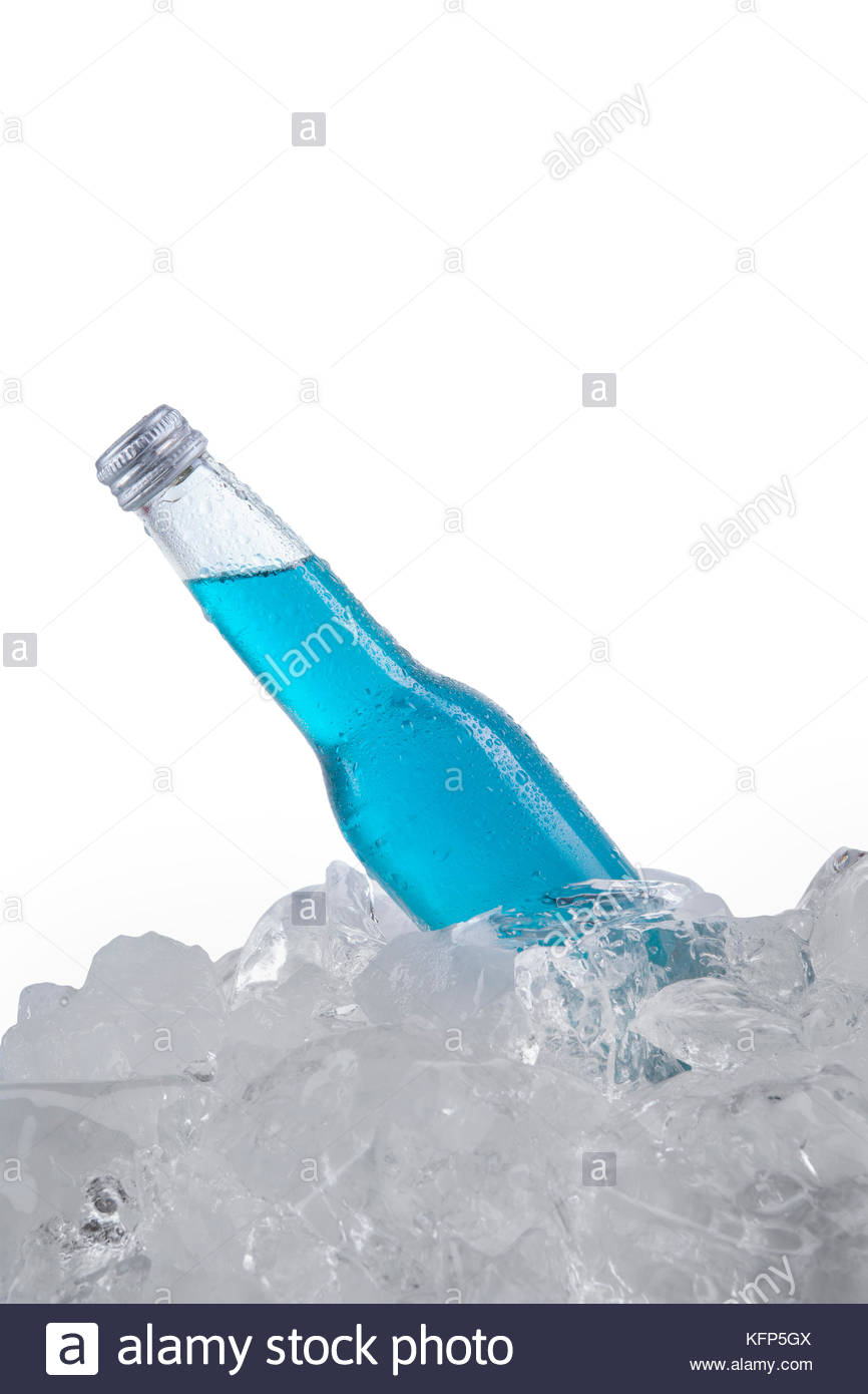 Ice Cold Bottle Of Water Stock Photos & Ice Cold Bottle Of ...