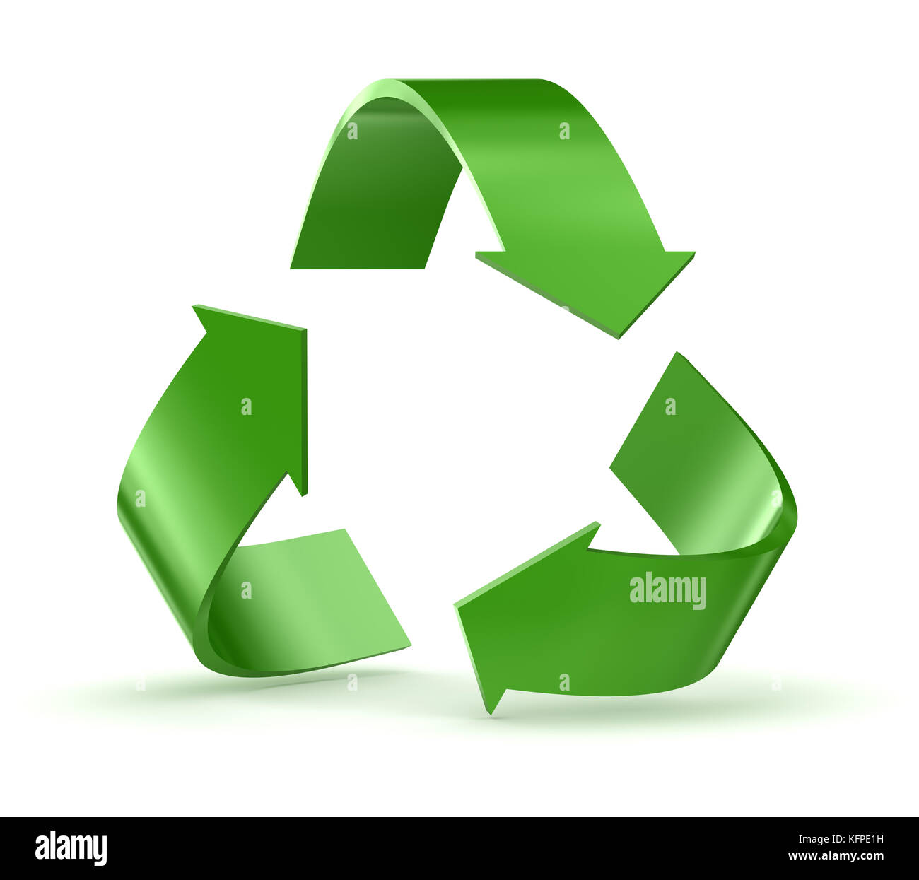 3d green arrow cycle illustration stock photos 3d green arrow recycle symbol 3d render and computer generated image stock image buycottarizona Choice Image