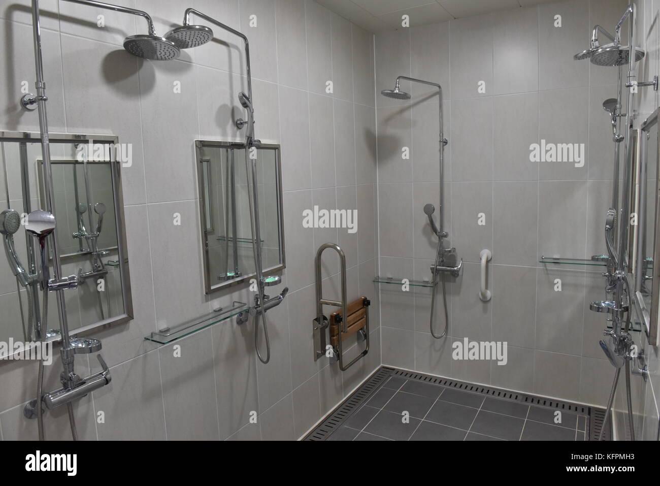 Locker Room And Shower Stock Photos & Locker Room And