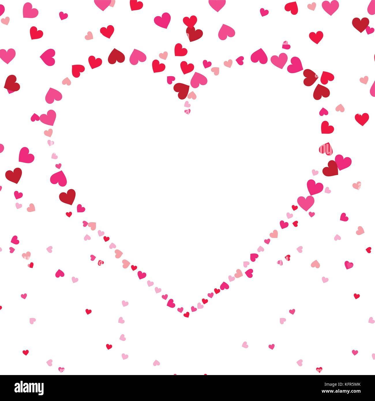 love shape heart decoration passion seamless pattern Stock